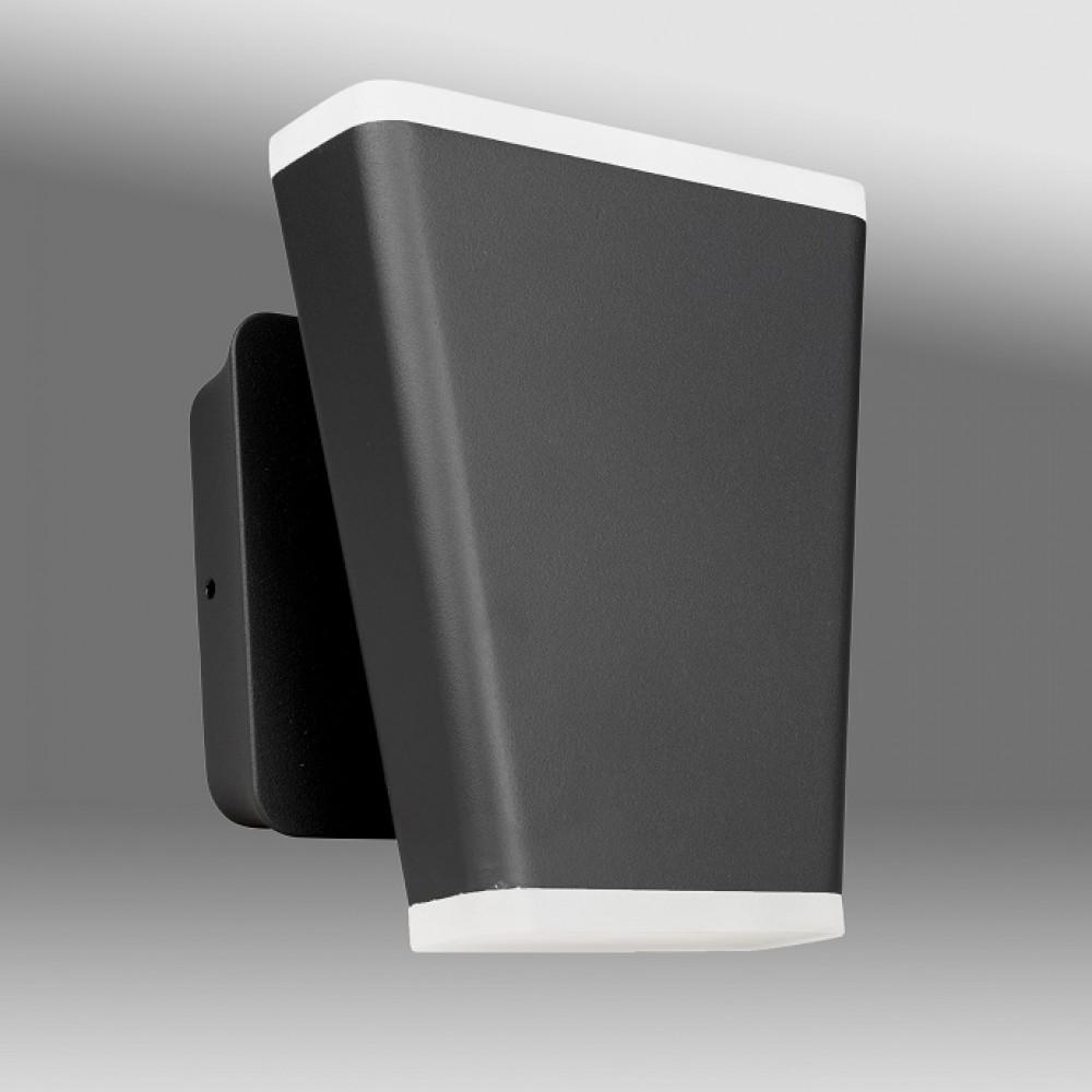 Aplica LED de perete 12.5W Mika SCHRACK iluminare sus/jos antracit lumina calda