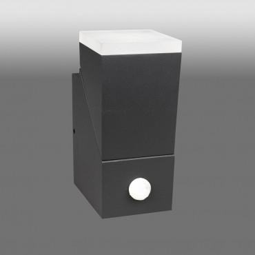 Aplica LED de perete cu senzor 8W orientabila Evo Square Up SCHRACK antracit lumina calda