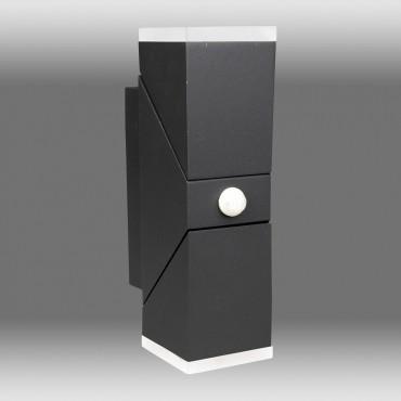 Aplica LED de perete cu senzor 12.5W orientabila Evo Square SCHRACK iluminare sus/jos antracit lumina calda