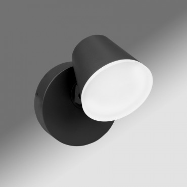 Aplica LED de perete 12.5W Zeta SCHRACK antracit lumina calda