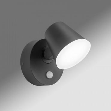 Aplica LED de perete cu senzor 12.5W Zeta SCHRACK antracit lumina calda
