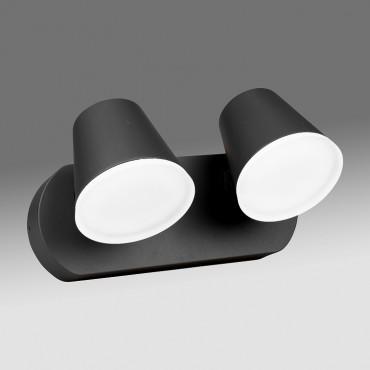 Aplica LED de perete cu senzor 20W dubla Zeta SCHRACK antracit lumina calda
