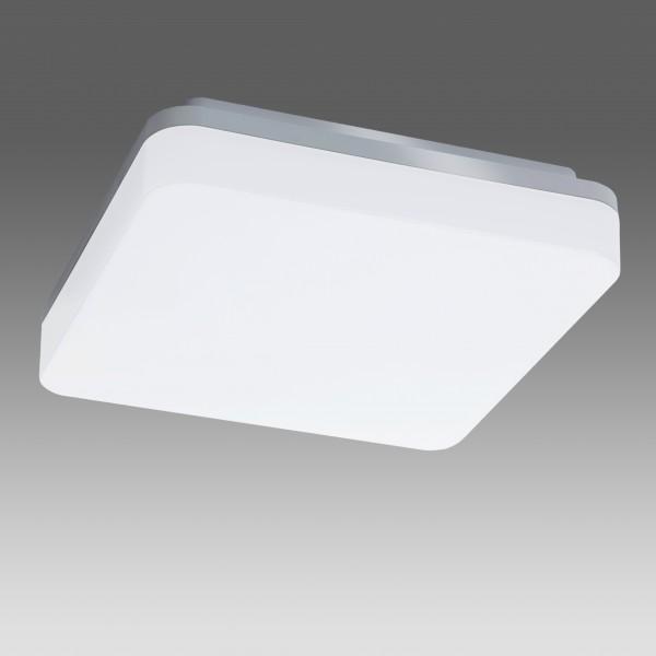 Plafoniera LED 15W patrata 210mm SCHRACK ELEGANCE Corp Argintiu Alb Cald