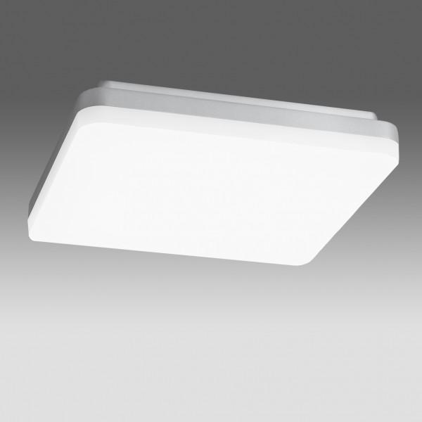 Plafoniera LED 27W patrata 260mm SCHRACK ELEGANCE Corp Argintiu Alb Cald