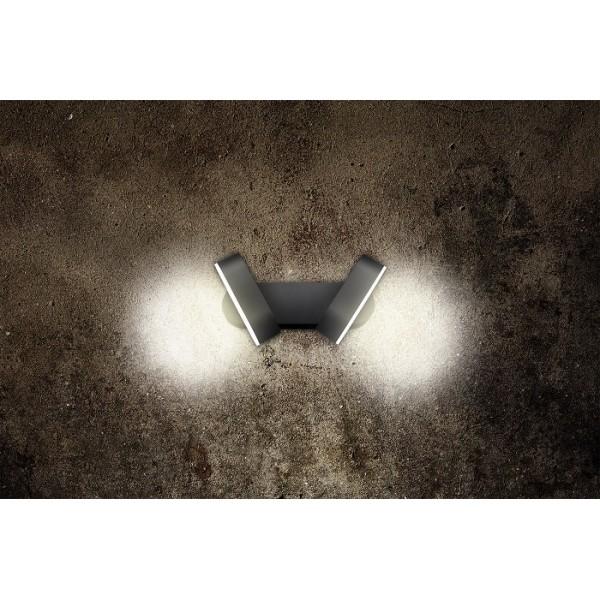 Aplica LED de perete 13W dubla orientabila LEA SCHRACK antracit lumina calda