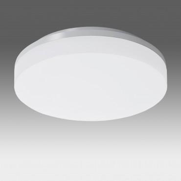 Plafoniera LED dimabila 15W rotunda 220mm SCHRACK ELEGANCE Corp Argintiu Alb Cald