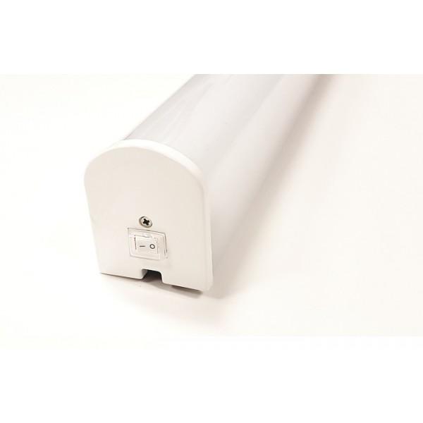 Corp de iluminat cu LED 15W pentru oglinda alb VERRA SCHRACK IP44 cu intrerupator lumina calda