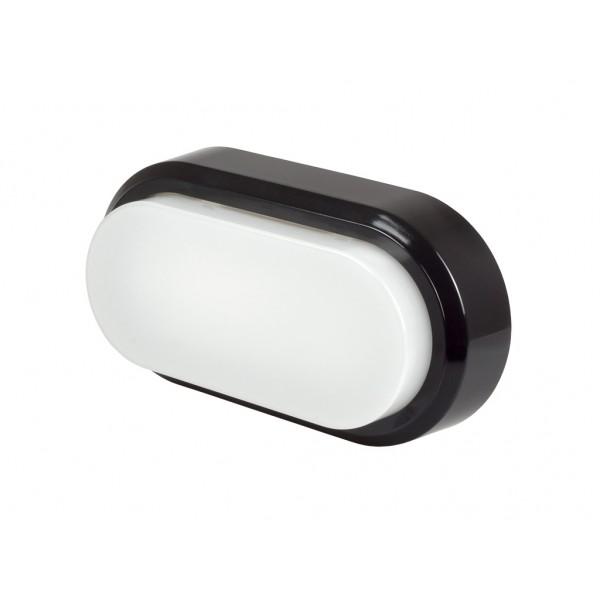 Aplica LED ovala 8W corp negru Alb Neutru