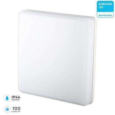 Plafoniera LED patrata 25W 100lm/W cip Samsung lumina calda IP44