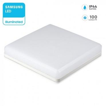 Plafoniera LED patrata 15W 100lm/W cip Samsung lumina neutra ip44