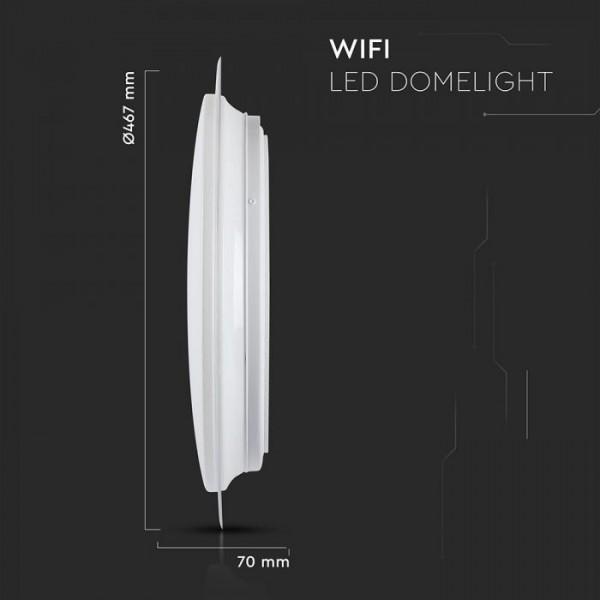 Plafoniera LED SMART 60W 450mm aspect instelat compatibila cu AMAZON ALEXA si GOOGLE HOME 3 in 1