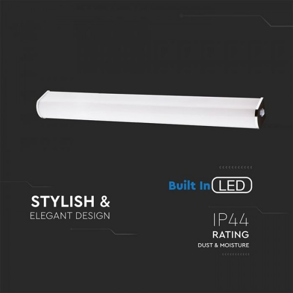 Corp de iluminat cu LED 10W crom pentru oglinda cu intrerupator Alb Neutru