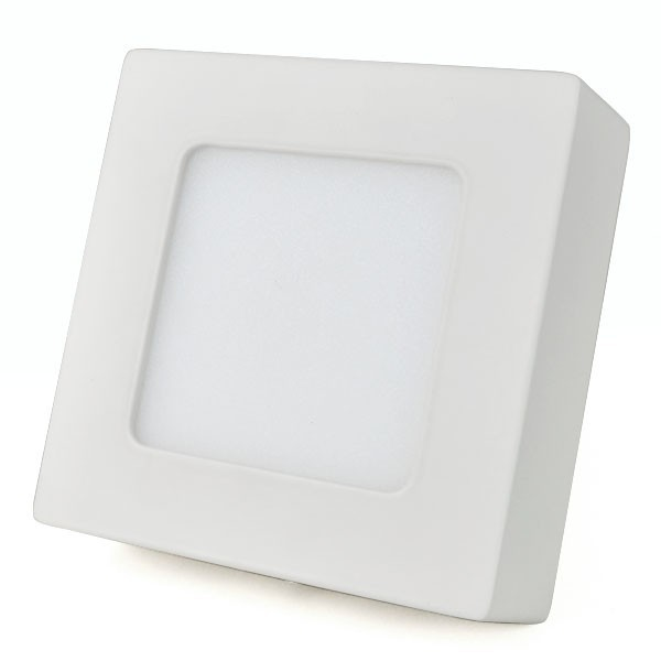 Aplica LED de tavan 6W Patrat Alb Rece