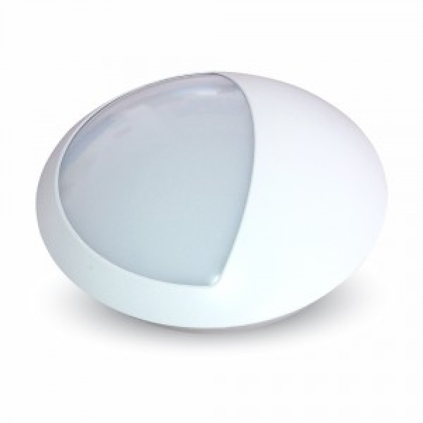 Plafoniera LED 12W Corp Semi-rotund IP66 Alb Neutru