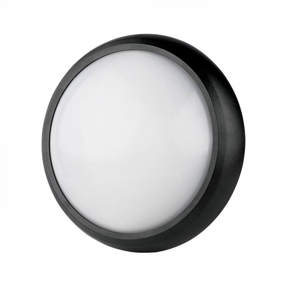 Plafoniera LED 12W Corp Negru Rotund Alb Rece