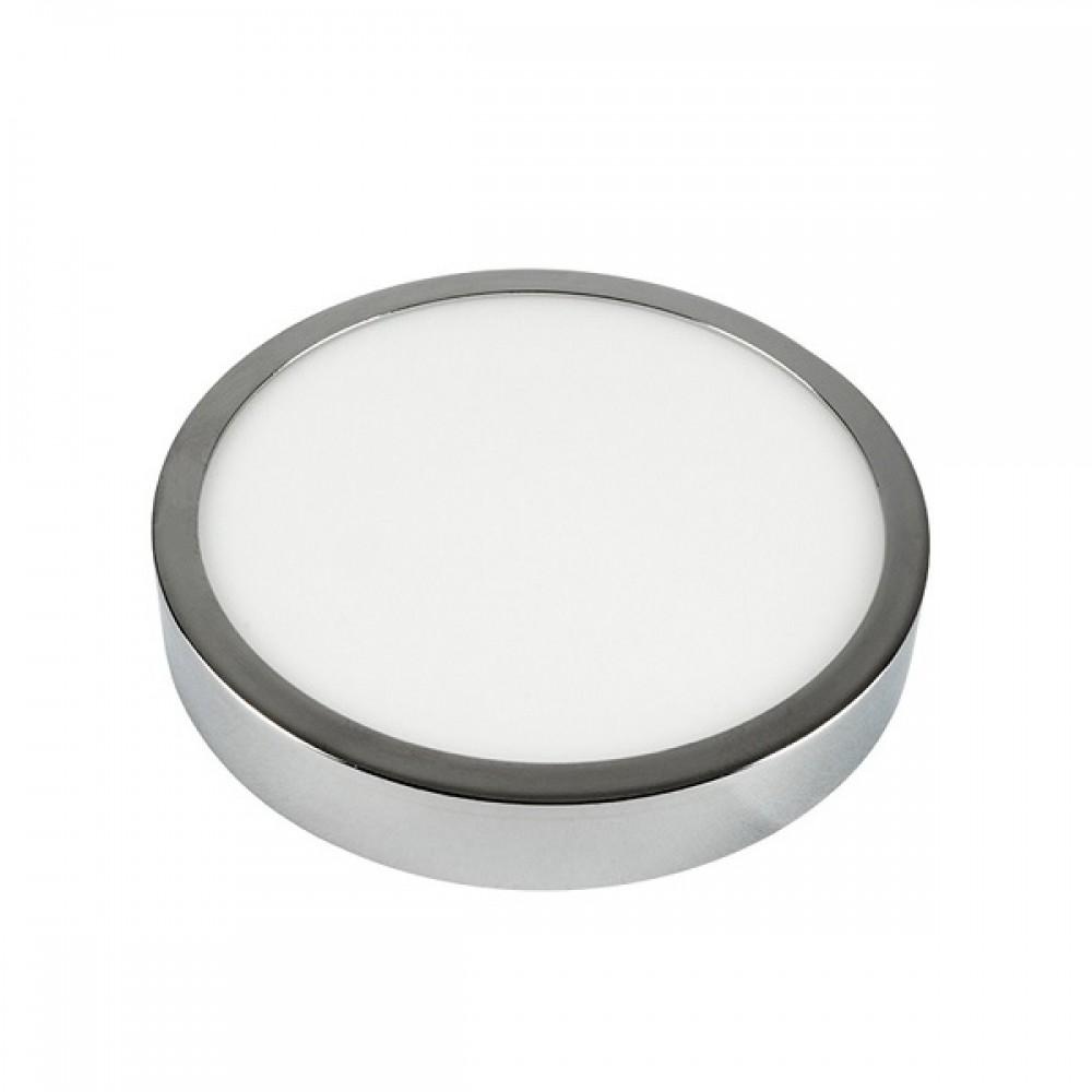 Plafoniera LED 12W rotunda crom Alb Cald