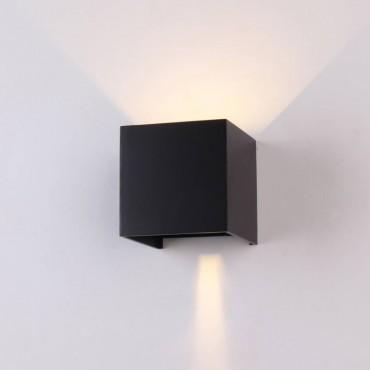 Aplica LED 6W patrata cip BRIDGELUX Corp Negru Alb Neutru