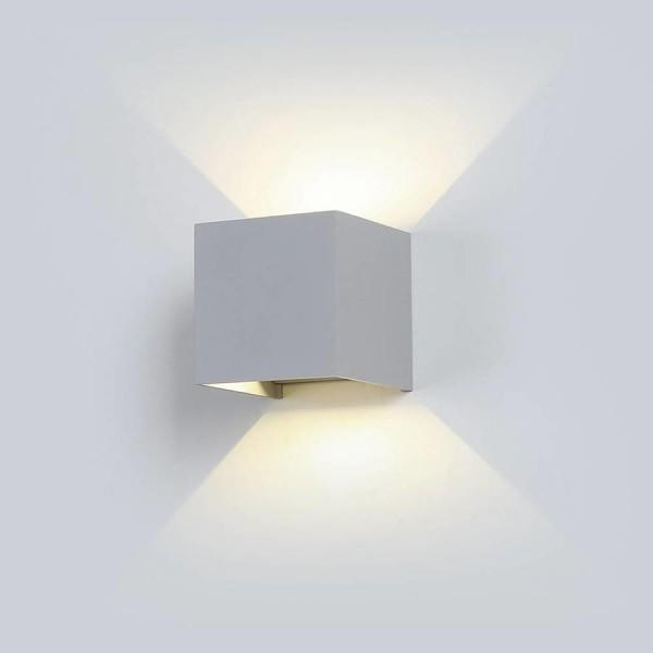 Aplica LED 6W patrata cip BRIDGELUX Corp Gri Alb Cald