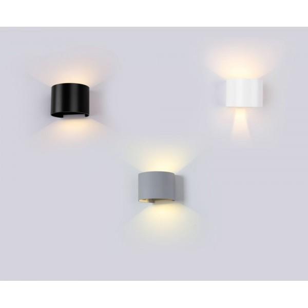 Aplica LED 6W rotunda cip BRIDGELUX Corp Negru Alb Neutru