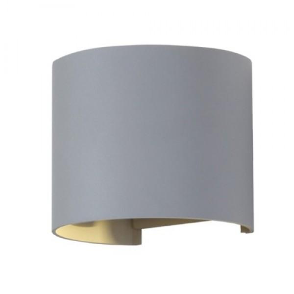 Aplica LED 6W rotunda cip BRIDGELUX Corp Gri Alb Cald