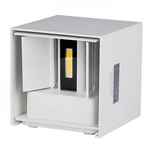 Aplica LED 6W patrata cip BRIDGELUX Corp Alb Alb Cald