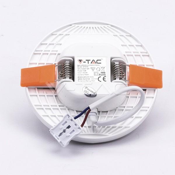 Spot LED 12W montaj ajustabil Cip SAMSUNG Rotund Alb Rece