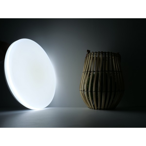 Plafoniera LED rotunda 36W 480mm opala 3 in 1