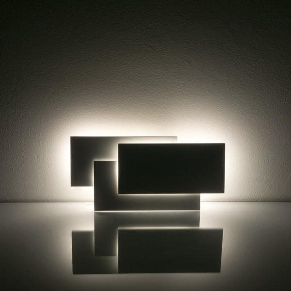 Aplica LED 12W tripla Corp Alb Alb Cald