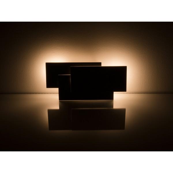 Aplica LED 12W tripla Corp Negru Alb Cald