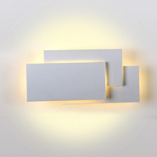 Aplica LED 12W tripla Corp Gri Alb Neutru