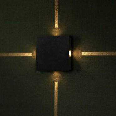 Aplica LED 4W patrata Corp Negru Alb Cald