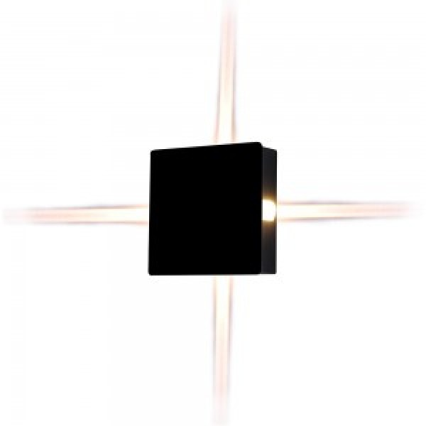 Aplica LED 4W patrata Corp Negru Alb Neutru