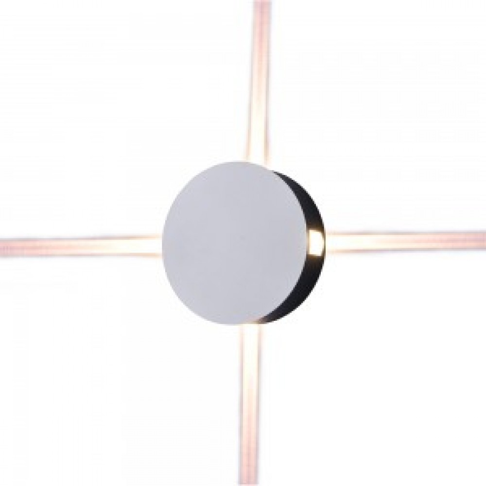 Aplica LED 4W rotunda Corp Alb Alb Cald