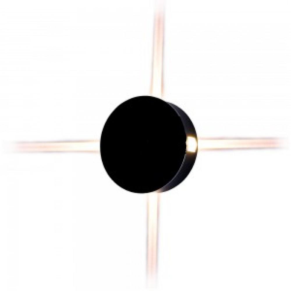 Aplica LED 4W rotunda Corp Negru Alb Neutru