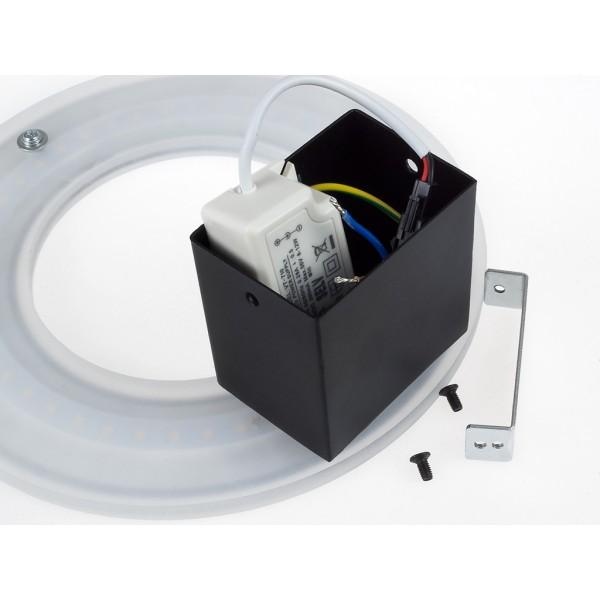Aplica LED 9W circulara Corp Alb Alb Neutru