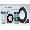 Aplica LED 9W circulara Corp Negru Alb Cald