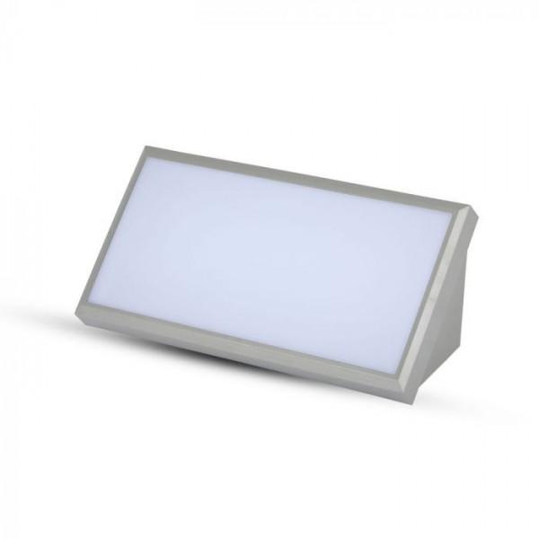 Aplica LED de exterior 20W dreptunghiulara gri
