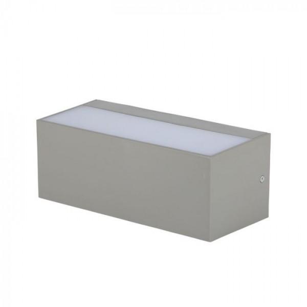 Aplica LED de exterior 12W gri iluminare sus jos
