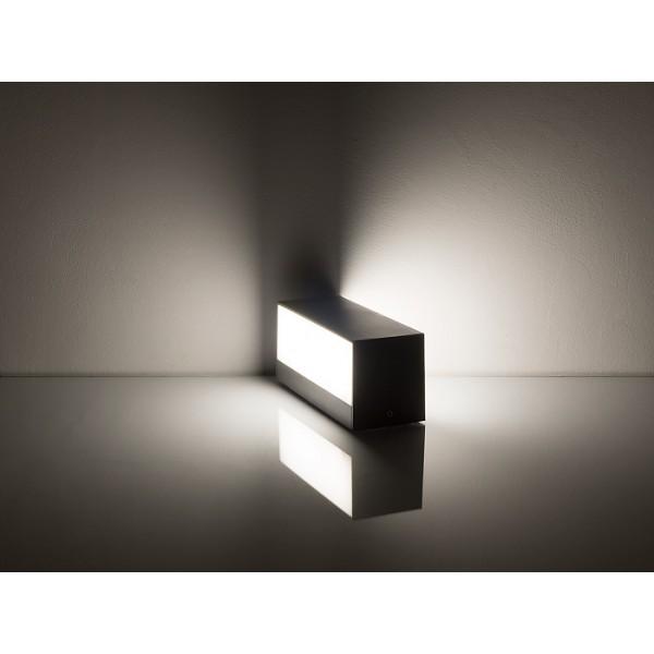 Aplica LED de exterior 9W gri iluminare sus jos