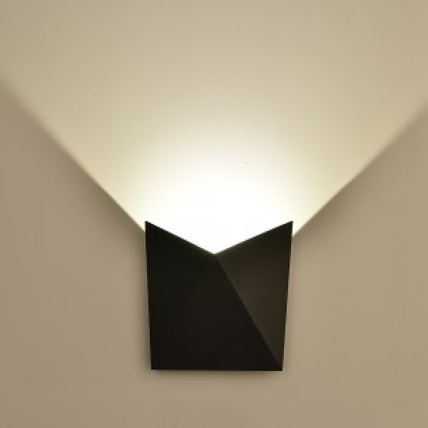 Aplica LED 5W Corp Negru Alb Cald