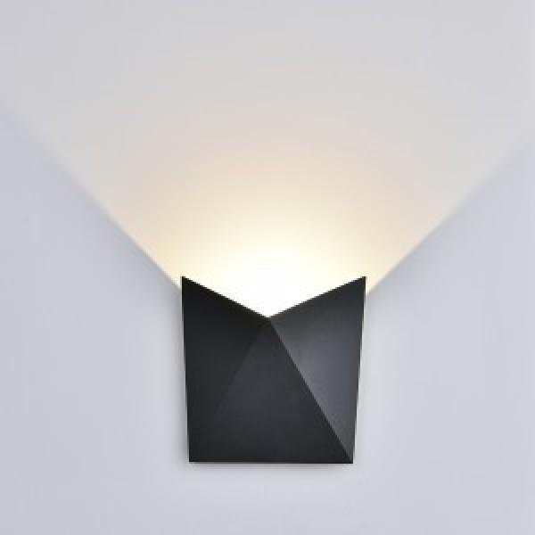 Aplica LED 5W Corp Gri Alb Cald