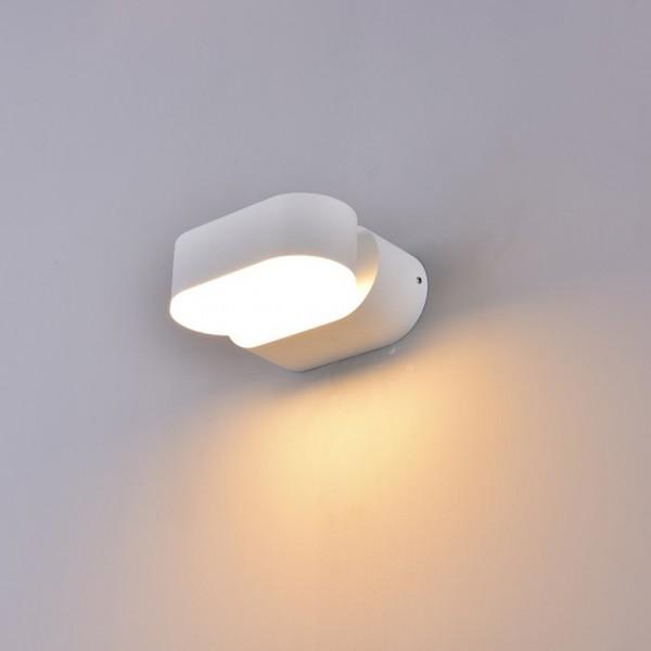 Aplica LED 6W Corp Alb Orientabil Alb Cald