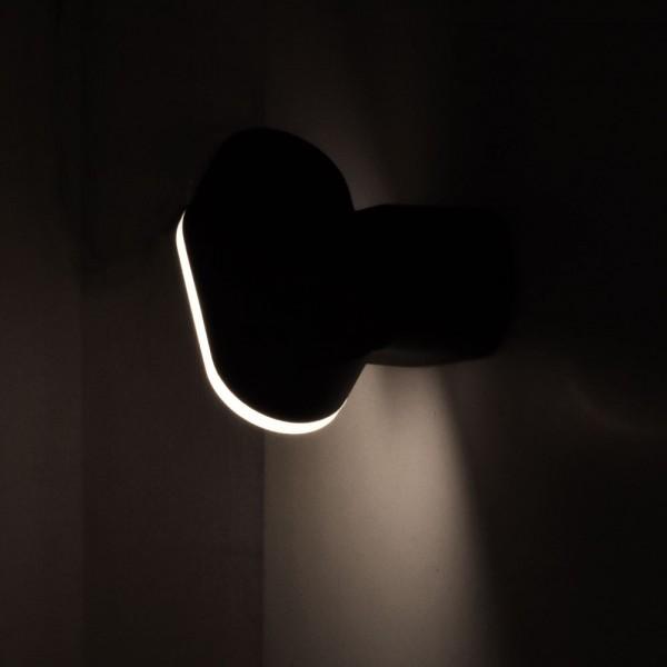 Aplica LED 6W Corp Negru Orientabil Alb Cald