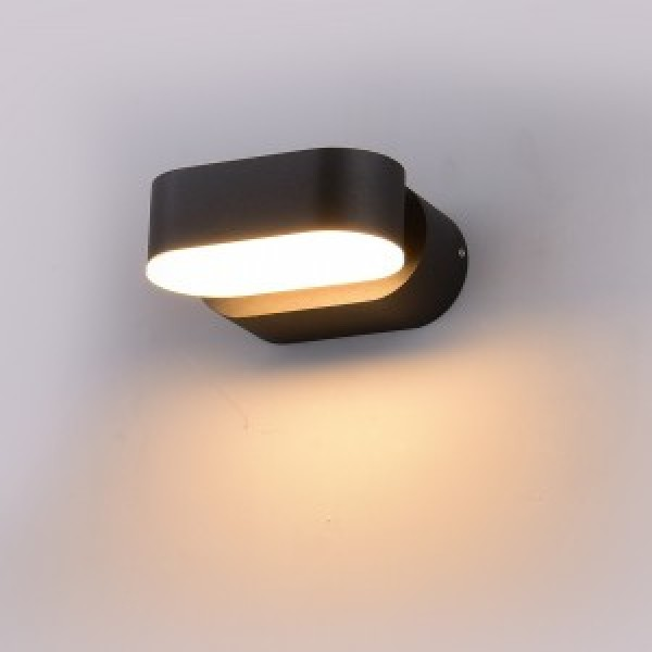 Aplica LED 6W Corp Negru Orientabil Alb ...