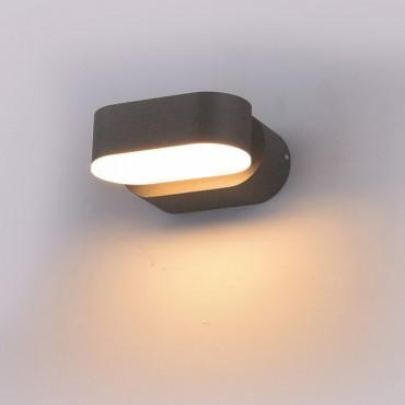 Aplica LED 6W Corp Gri Orientabil Alb Cald