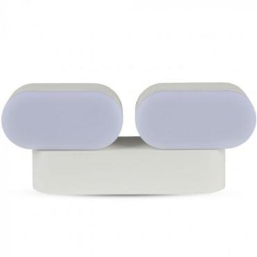 Aplica LED dubla 12W Corp Alb Orientabil Alb Cald