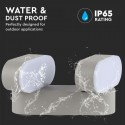 Aplica LED dubla 12W Corp Gri Orientabil Alb Cald