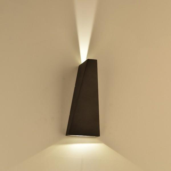 Aplica LED 6W Corp Negru Alb Cald