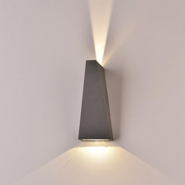 Aplica LED 6W Corp Gri Alb Cald