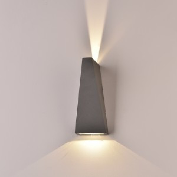 Aplica LED 6W Corp Gri Alb Cal...